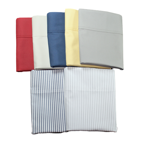 Home-style 100% cotton percale pillowcases in a choice of fashion colours