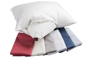 Compact pillows that inflate. They fit into carry on luggage, purses and backpacks