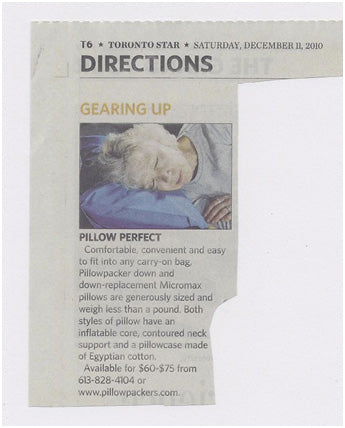 Pillowpackers in the Toronto Sun