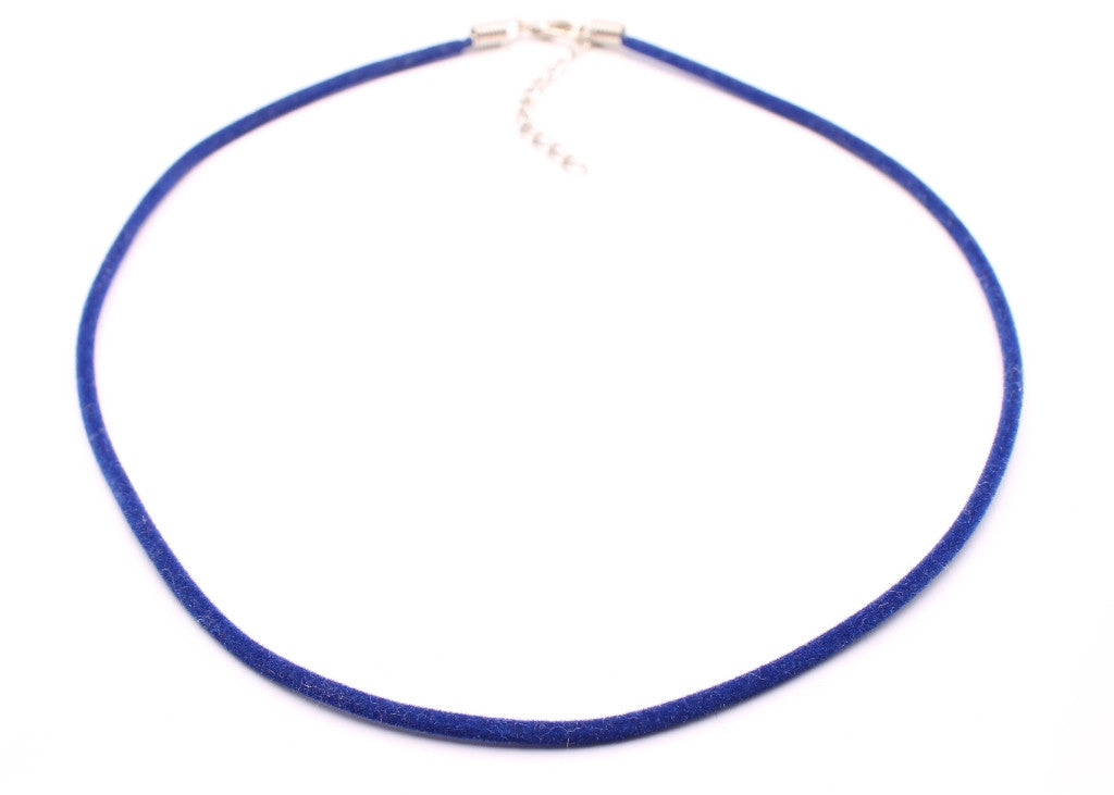 Elegant and  durable Blue Velvet Pendant Necklace Cord (Set of 2)
