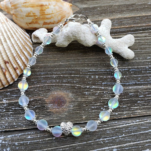 Love Frosted Mermaid Beaded Adjustable Anklet