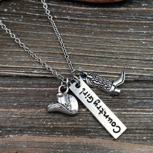 Silvertone Country Girl Necklace