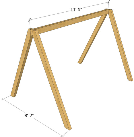 How To Add A Swing Set To Your Playhouse Diy Swing Set Plans