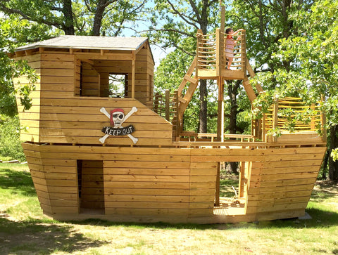 Build a Pirate Ship Playhouse | 8 Designs you can Build ... on diy outdoor playhouse, diy playhouse ideas, diy wooden playhouse,
