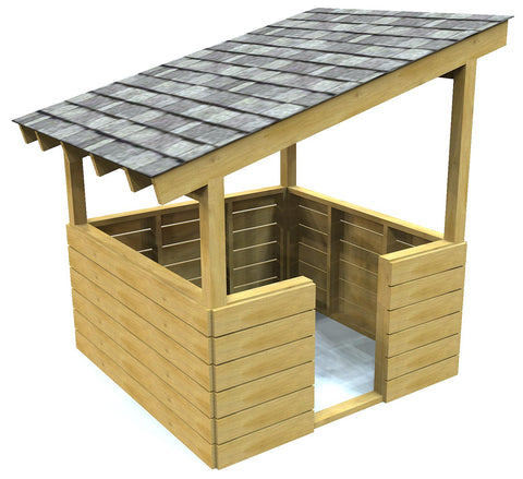 Small wooden playhouse plan
