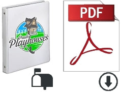 A 3-ring binder and the PDF logo