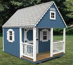 The complete guide to outdoor playhouse kits paul 39 s for Complete barn home kits