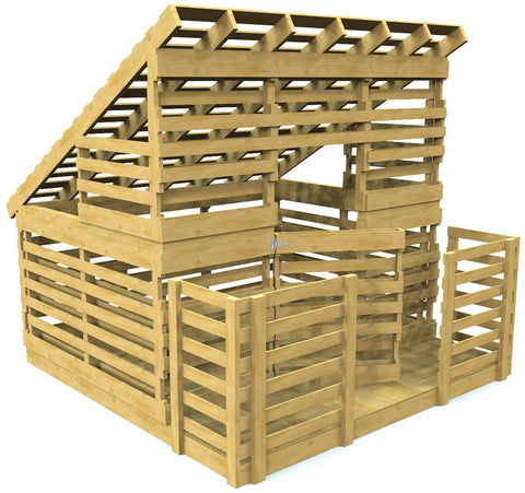 Free pallet playhouse plan diy project paul 39 s playhouses for Building a wendy house from pallets