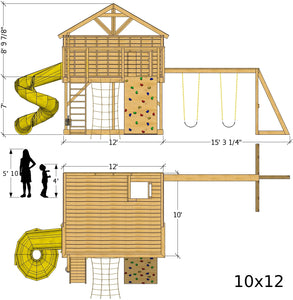 Petite Retreat Clubhouse Plan (3‑Sizes Sold Separately)