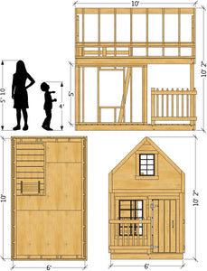 Green Playhouse Plan (2‑Sizes Sold Separately)