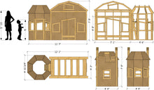 Barn bunk bed playhouse plan dimensions