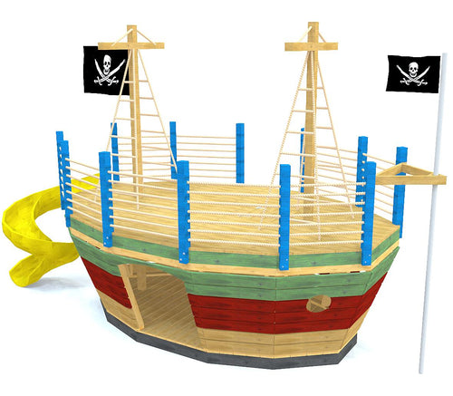 Medium sized pirateship play-set plan with two levels