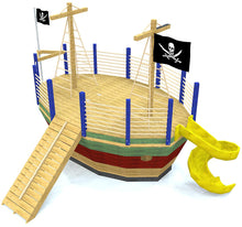 Cool kid's pirate ship play-set plan
