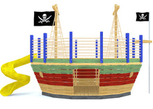 Pirate ship play-set with slide and trap door