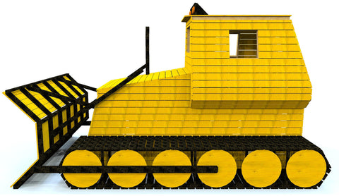 big, backyard bulldozer play-set for kids