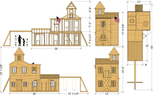 Central Fire Station Playhouse Plan