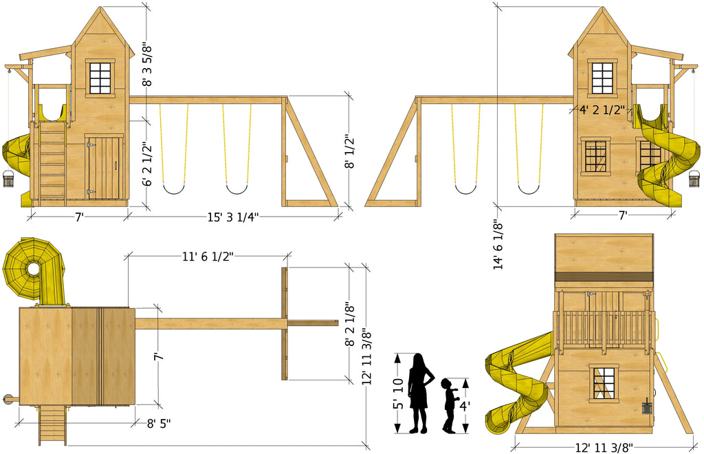 Curtailed Condo playhouse dimensions