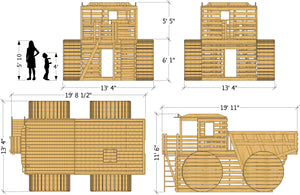 Constuction Dump Truck Play-set Plan