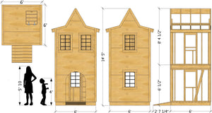 Small Fire House Playhouse Plan