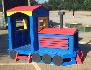 colorful free train play-set plan