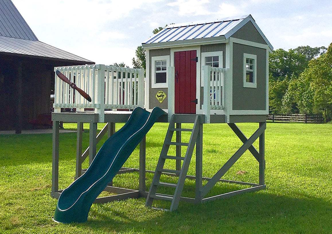 Playground Playhouse Plans for Kids | 2 Sizes - 16x16 & 12x8 ... on