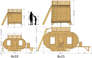 Happy Camper Playhouse Plan (2‑Sizes Sold Separately)