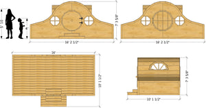 Hobbit playhouse plan dimensions