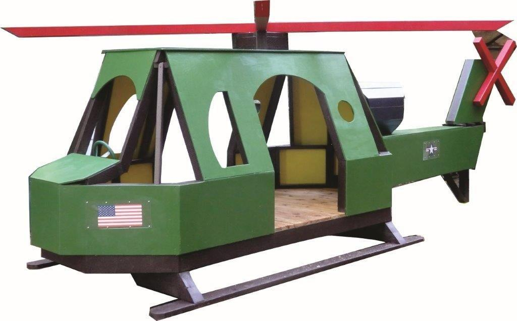 Huey Helicopter Play Set Plan 16x6 Wood Plan For Kids