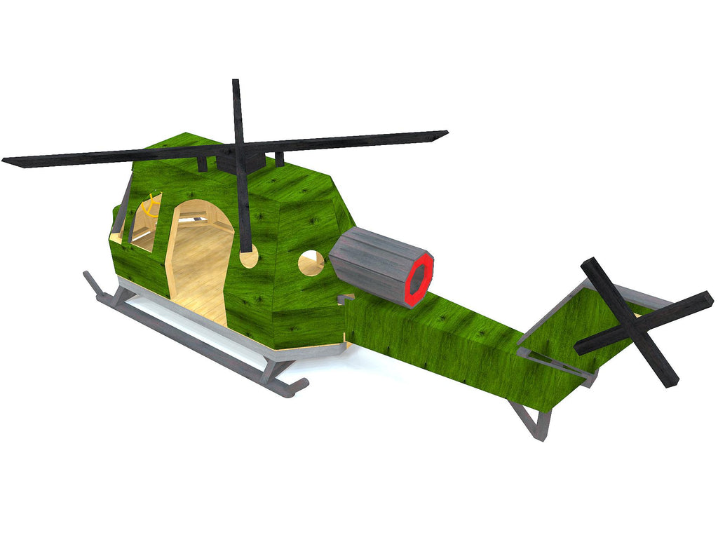 Wooden helicopter play-set plan