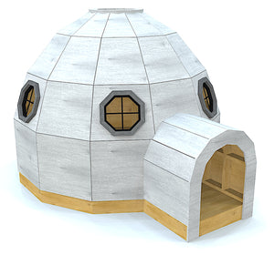 An 8x10 igloo DIY playhouse plan w/ windows