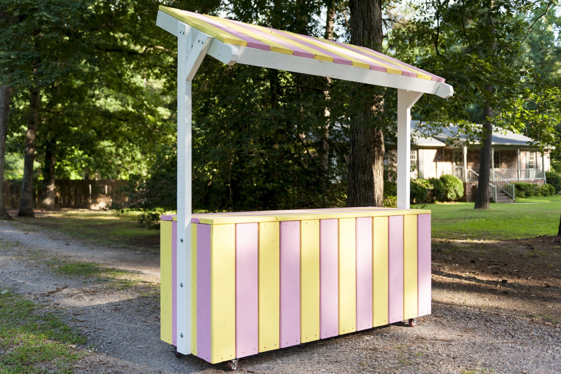Paul 39 s lemonade stand free woodworking plan for Kids lemonade stand plans