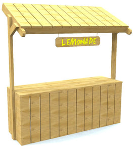wooden lemonaid stand plan