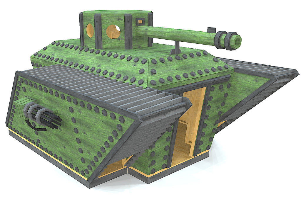 Green WWI tank playset
