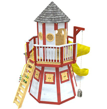 Lighthouse play-set plan with slide and bucket & pulley