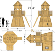 Little Lighthouse playhouse plan dimensions