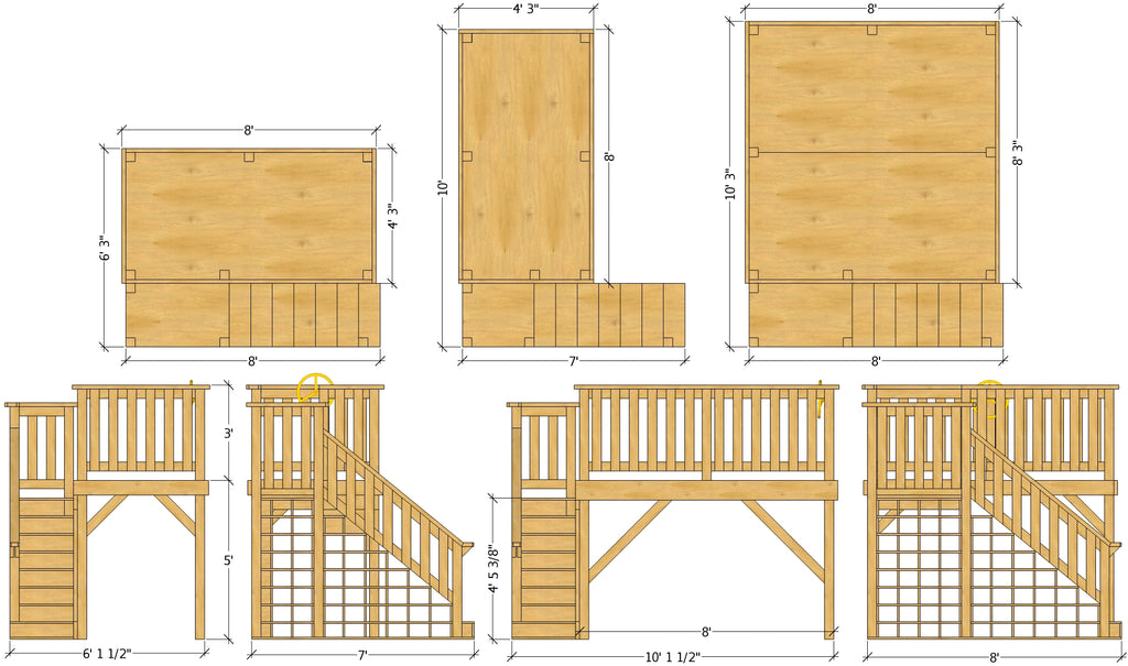 DIY classroom reading loft plan options and dimensions