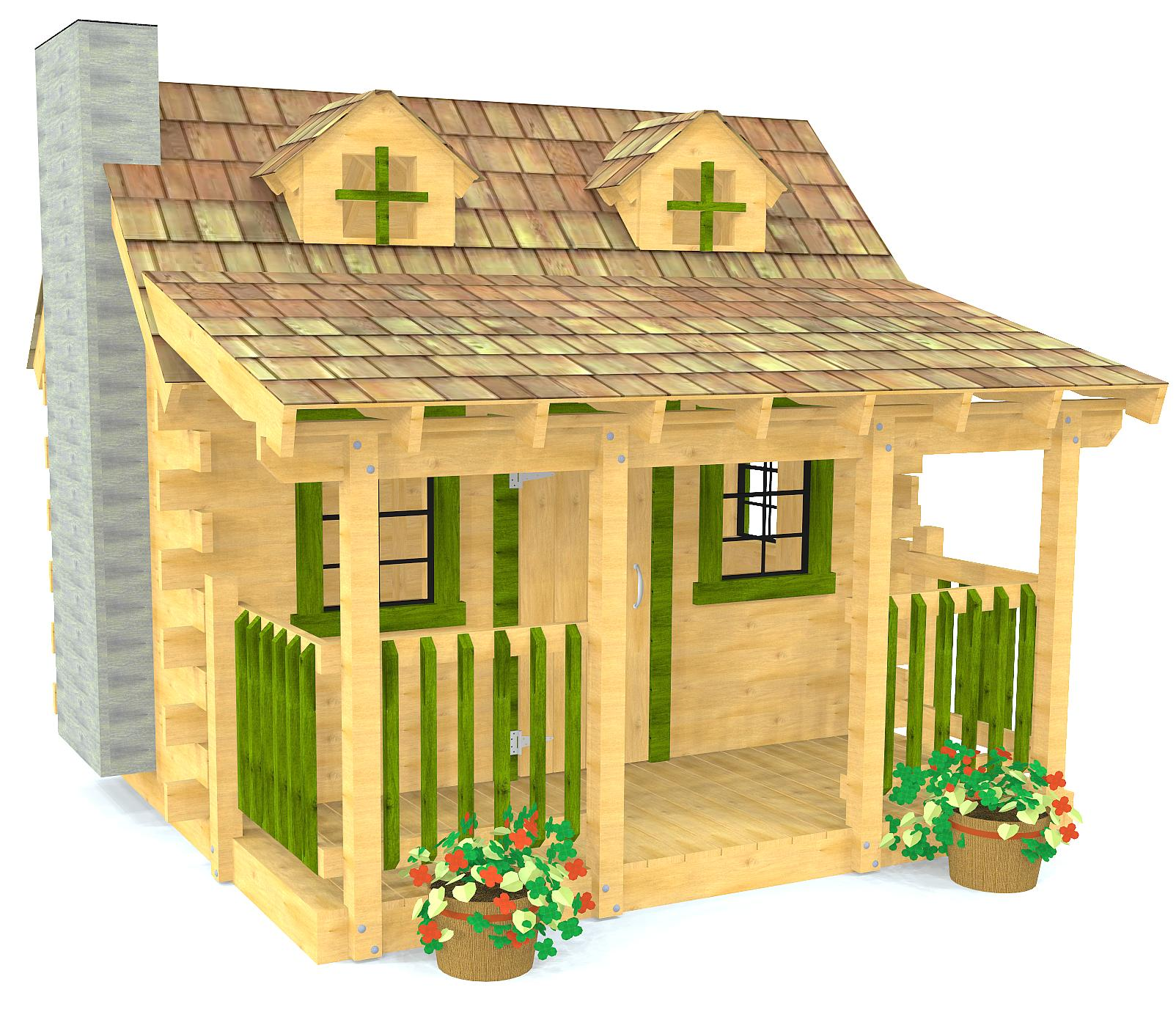 10x10 Log Cabin Playhouse Plan For Kids Paul S Playhouses