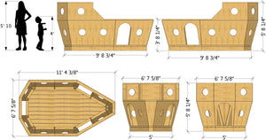 Small pirate ship play-set dimensions