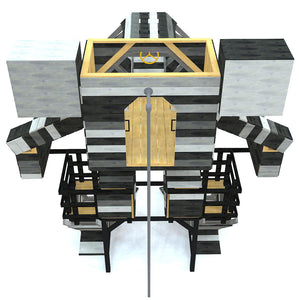 Large robot play-set plan with firepole
