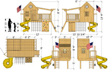 Playground Playhouse Plan (2‑Sizes)