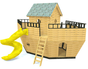 Noah's Ark wooden playground plan