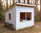 simple, free playhouse plan with shed roof and 8x8 in size