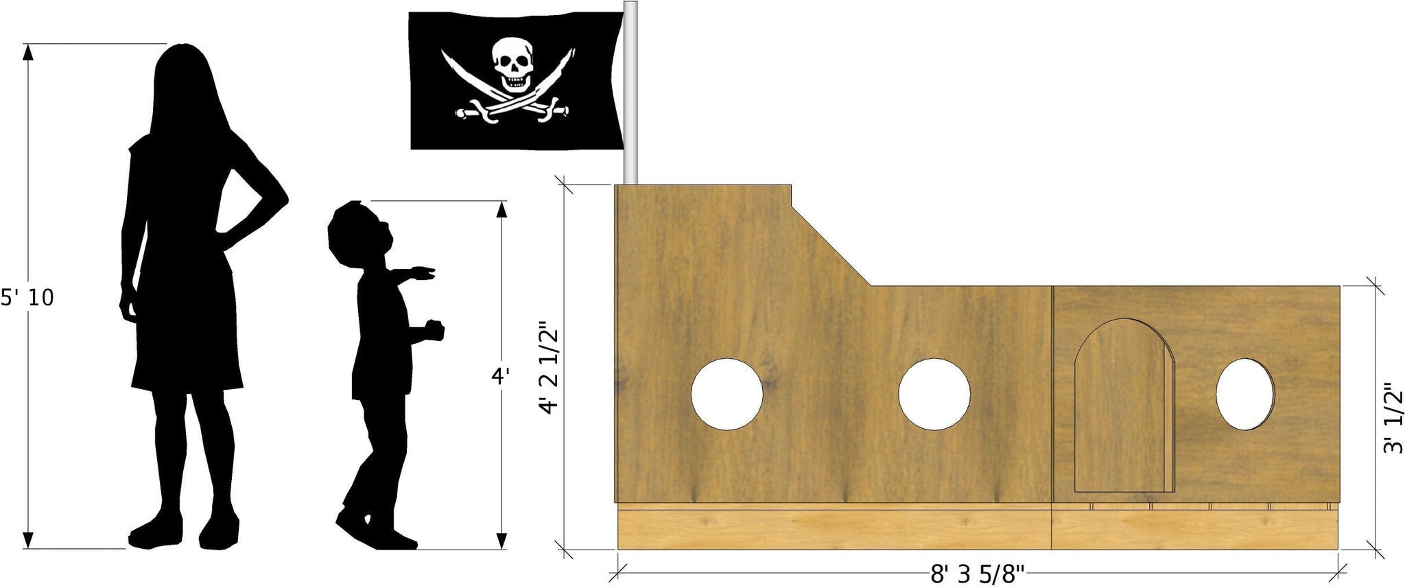 Free Pirate Ship Playhouse Plan 8x5 Pdf Download Paul