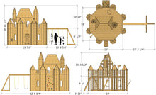 Paul's Palace castle playhouse plan dimensions