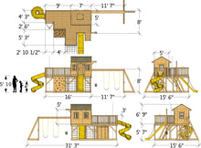 Playground playhouse plan dimensions