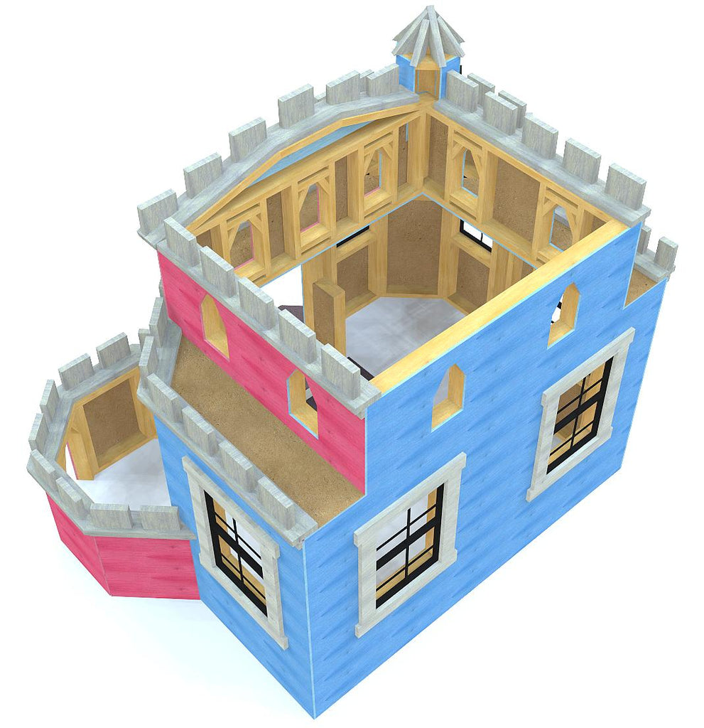 open concept indoor castle playhouse plan