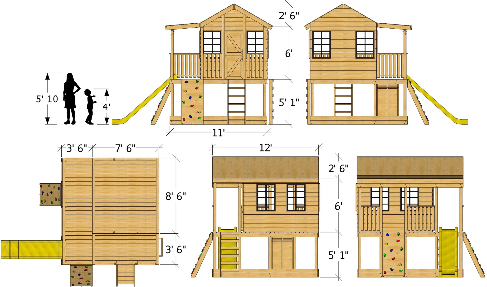 Do It Yourself Home Design: 11x12 Randy's Ranch Playhouse Plan For Kids