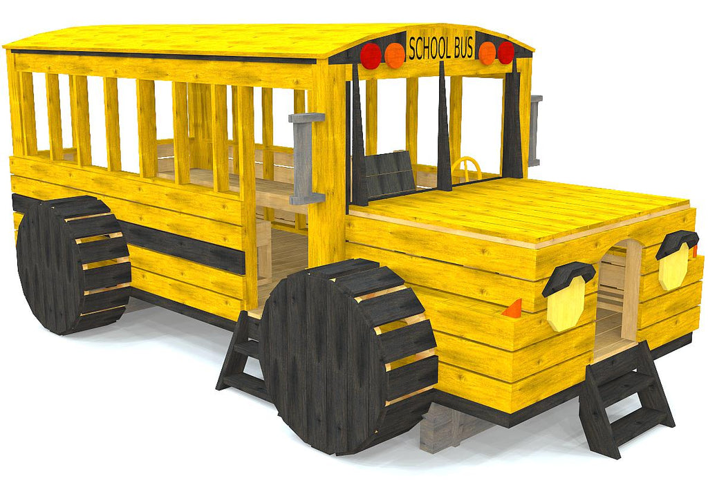 Yellow school bus playset