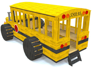 Back view of the school bus play-set plan