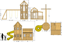 Small Barn & Silo Playhouse Plan (3‑Options Sold Separately)